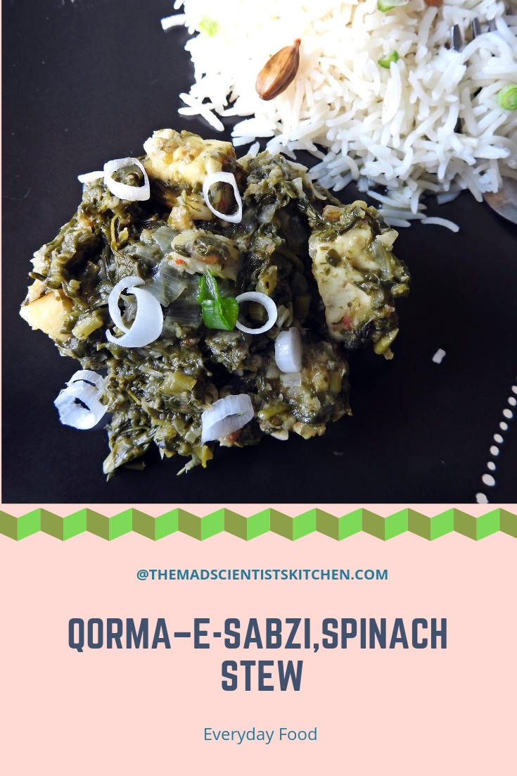 Qorma-e-Sabzi | How to make Spinach Stew