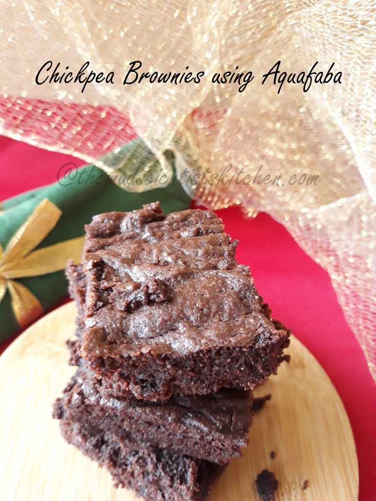 Chickpea Brownies, Aquafaba recipe, vegan