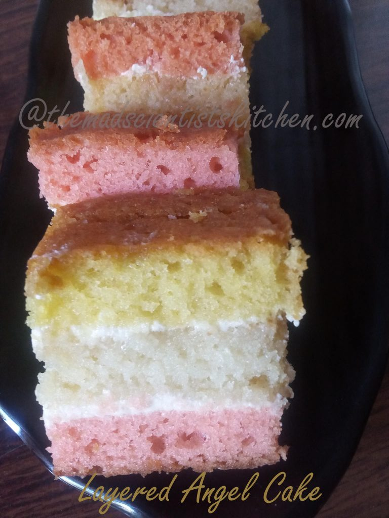 Layered Angel Cake, British, Dessert