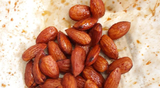 Oven Roasted Honey Chilli Almonds