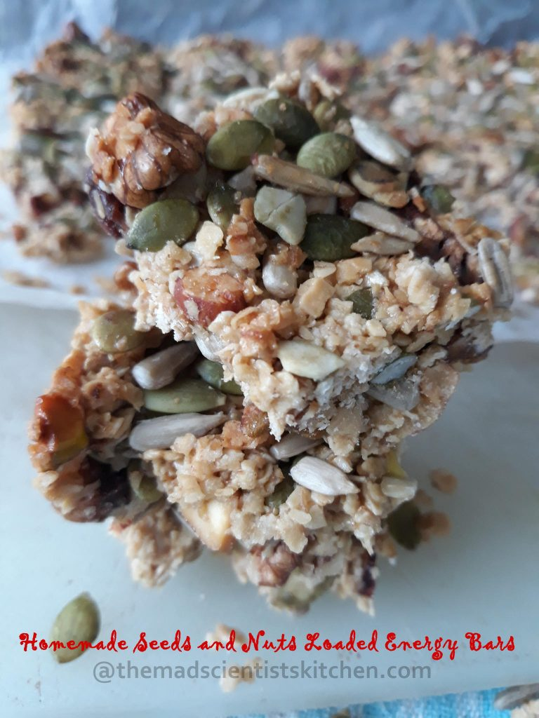 Seeds and Nuts Loaded Energy Bars, Granola bars