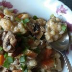 Risotto cooked with pearl barley
