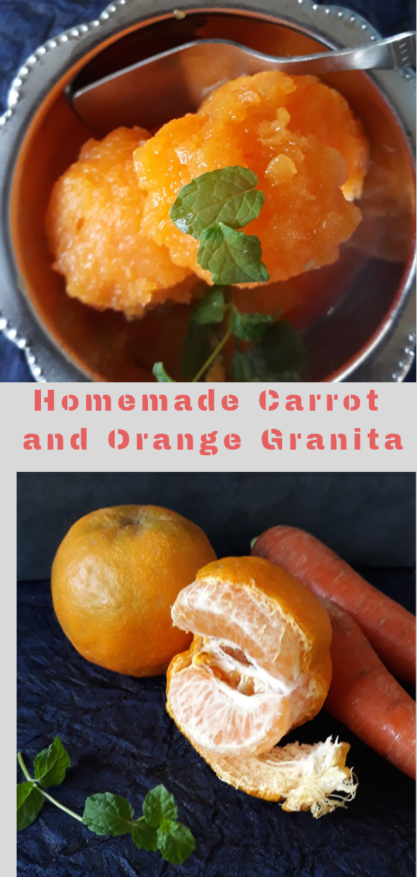Scoops of Homemade Carrot and Orange Granita