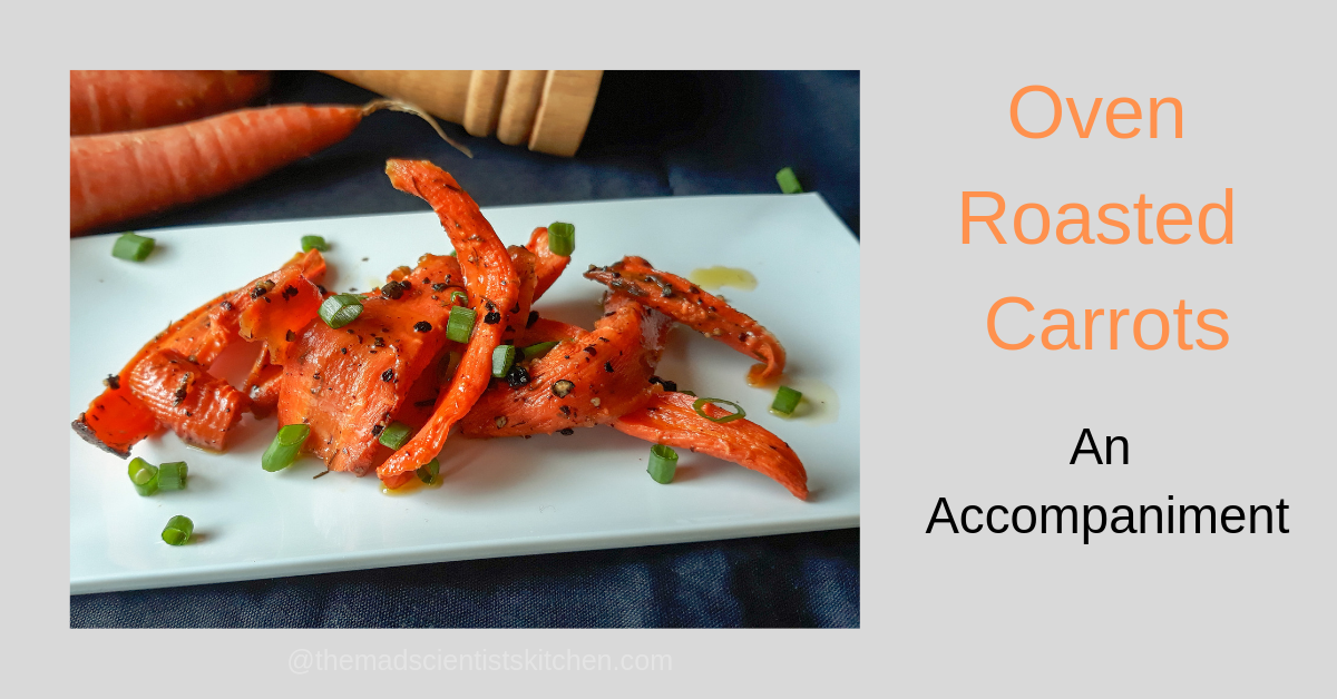 Served roasted carrots drizzled with oil, pepper and salt