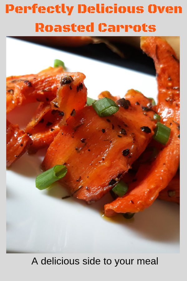 Carrots roasted drizzled with oi land pepper and salt