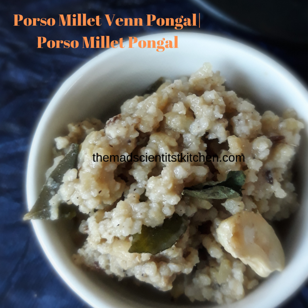 Breakfast with Venn Pongal