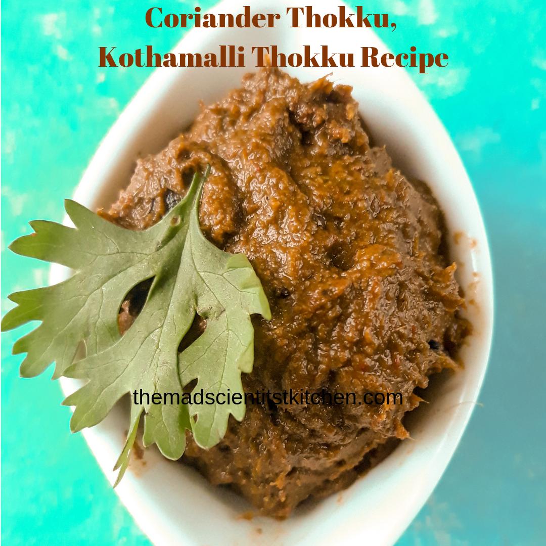 Liven your meal with a tangy and spicy Coriander thokku