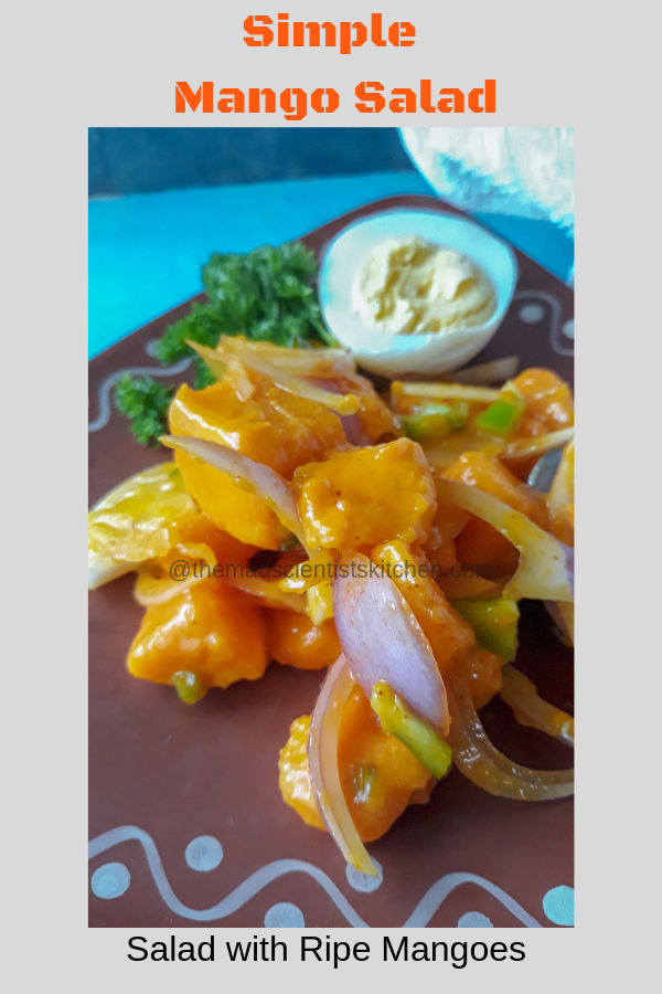 Serve diced mangoes tossed with onions, lemon, chaat masala