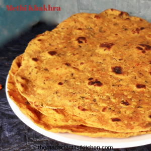 Simple while wheat flour and methi leaves crackers that are just great snack option