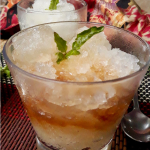 Lemon Basil Granita served with coffee and liqueur