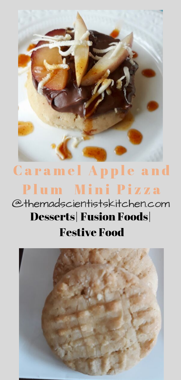 Caramel Apple and Plum Mini Pizza with Nutella and Goat Cheese