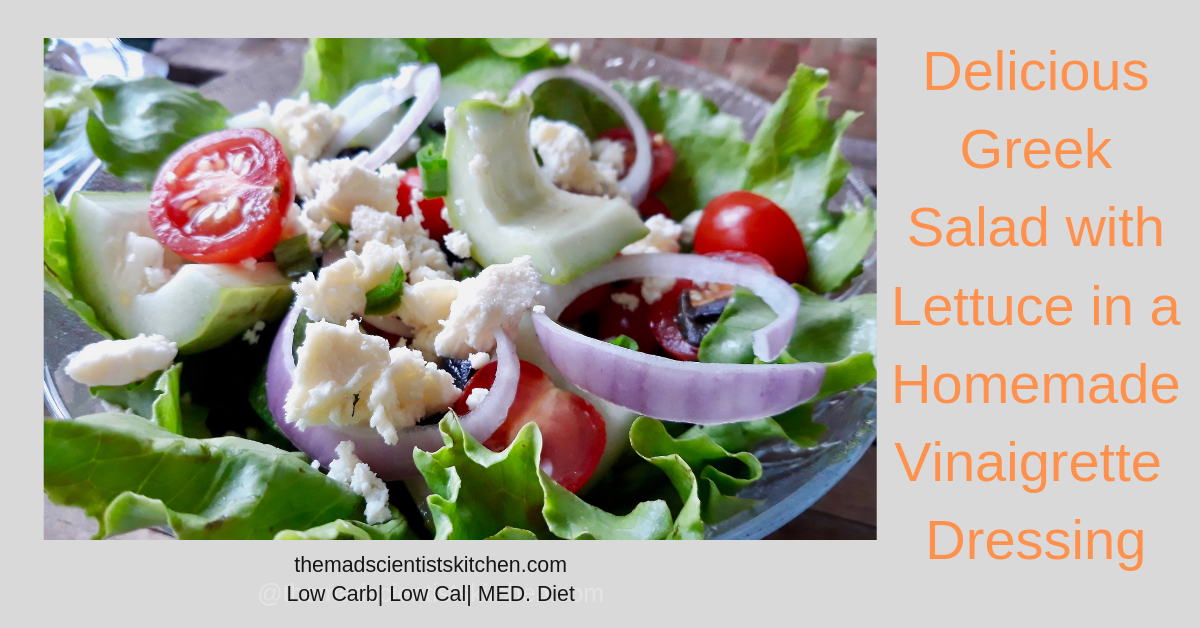 Delicious Greek Salad with Lettuce