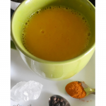 My Golden Turmeric Milk in a cup
