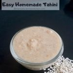 Homemade Tahini served in a bowl