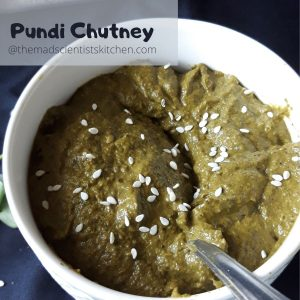 Chutney or Pachadi made with Red Sorrel Leaves
