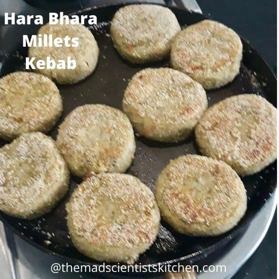Cooking Hara Bhara Millets Kebab