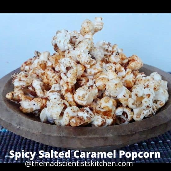 Sweet and pungent this Salted Caramel and Cayenne Pepper Popcorn is delicious.