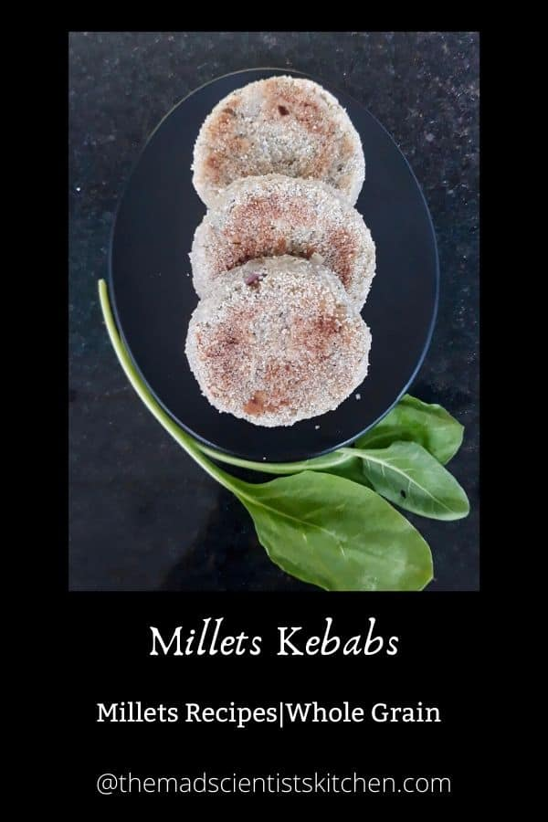 Millets and Spinach makes these cutlets delicious and healthy