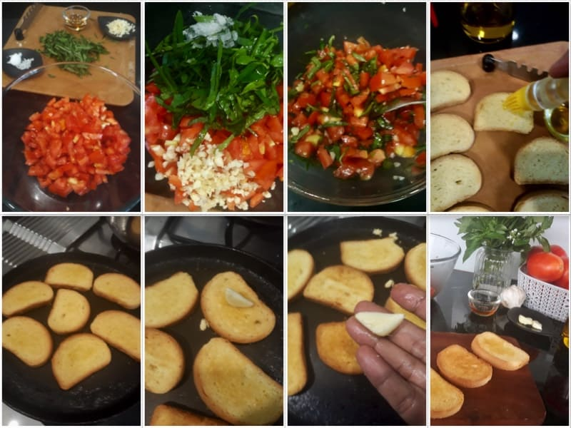 How to make Tomato Basil Bruschetta