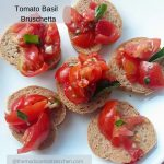 Tomato Basil Bruschetta a serving