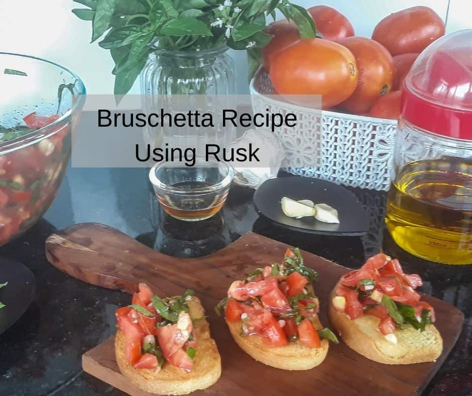 Getting Bruschetta ready