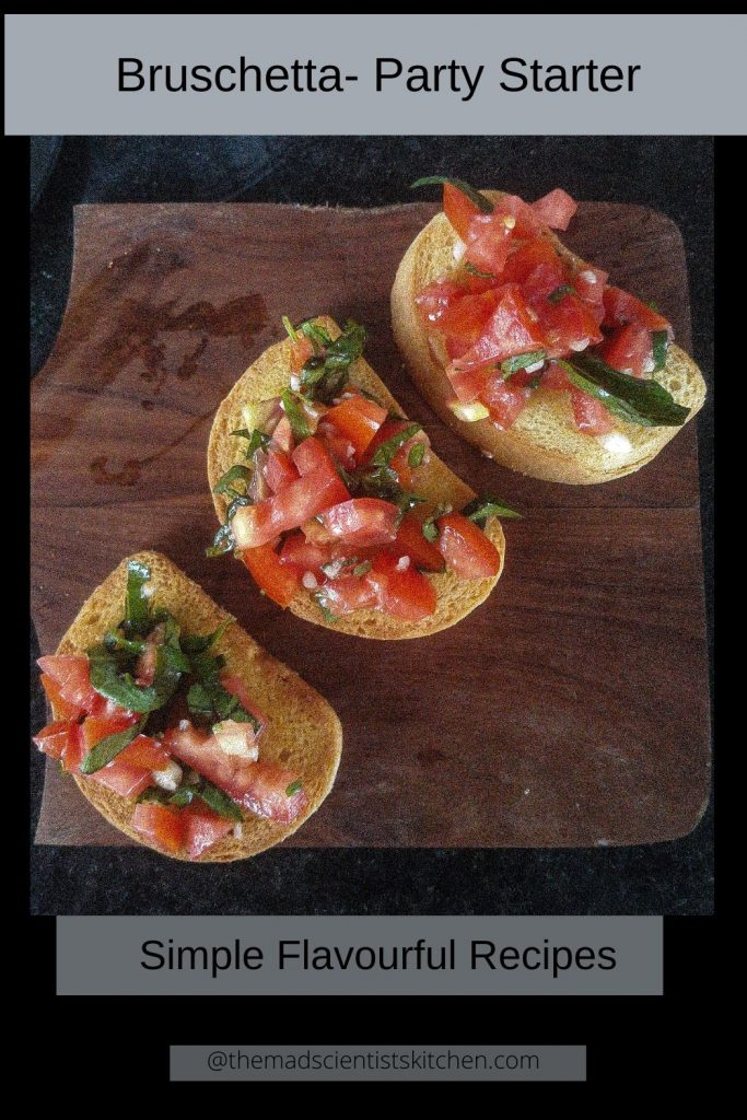 Bruschetta a party starter