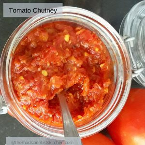 Tomato Chutney, a condiment that needs no grinding