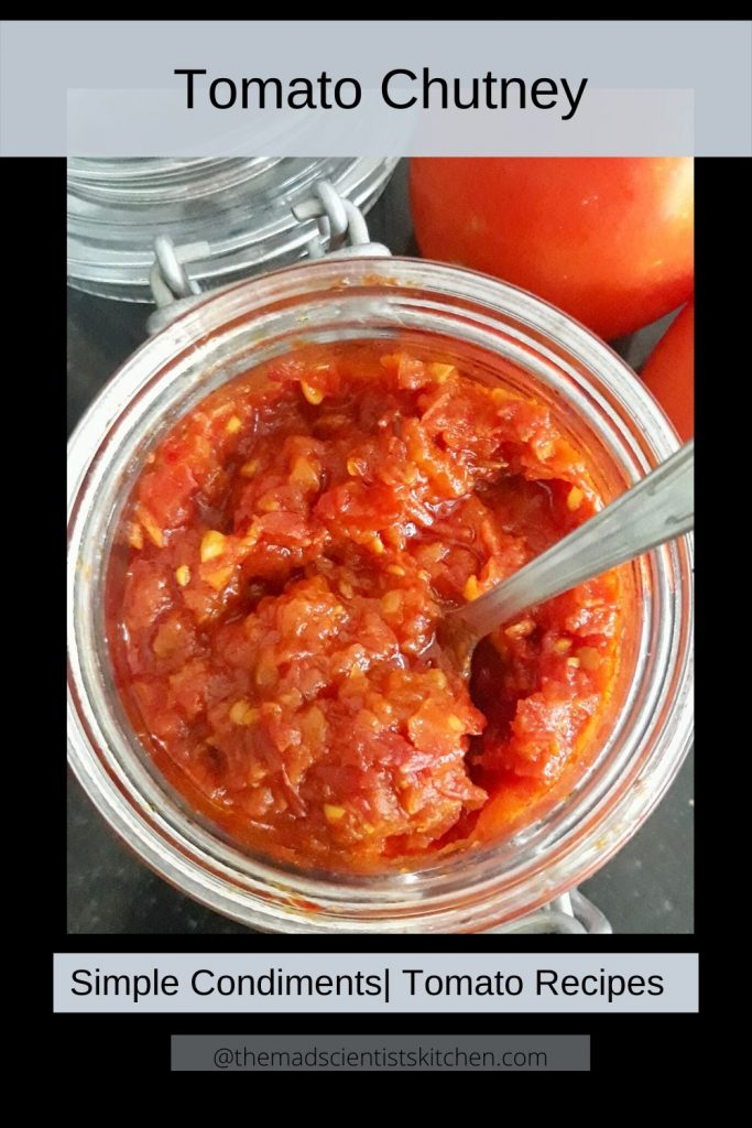 Tomato Relish a condiment made from ripe tomatoes