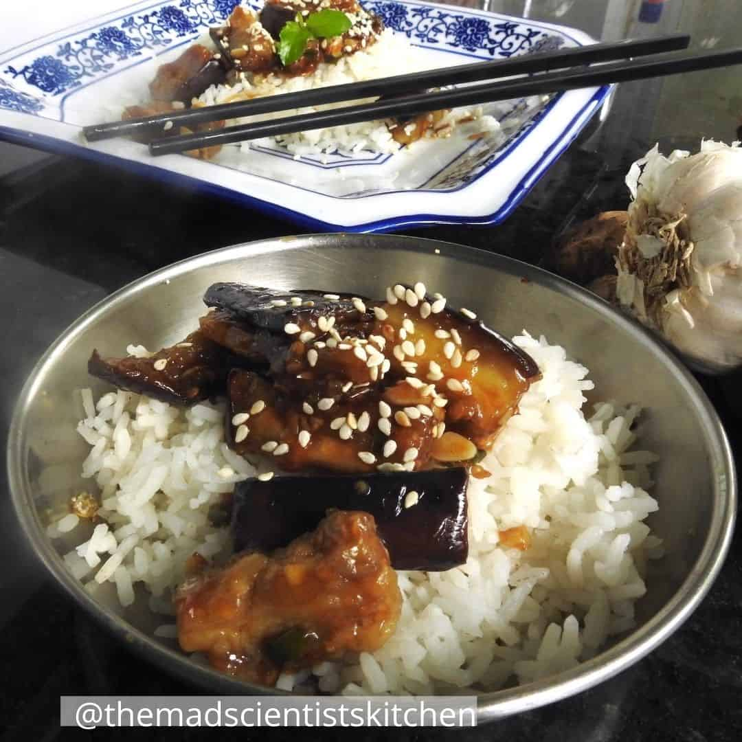 Chinese Yu Xiang Eggplant Recipe served