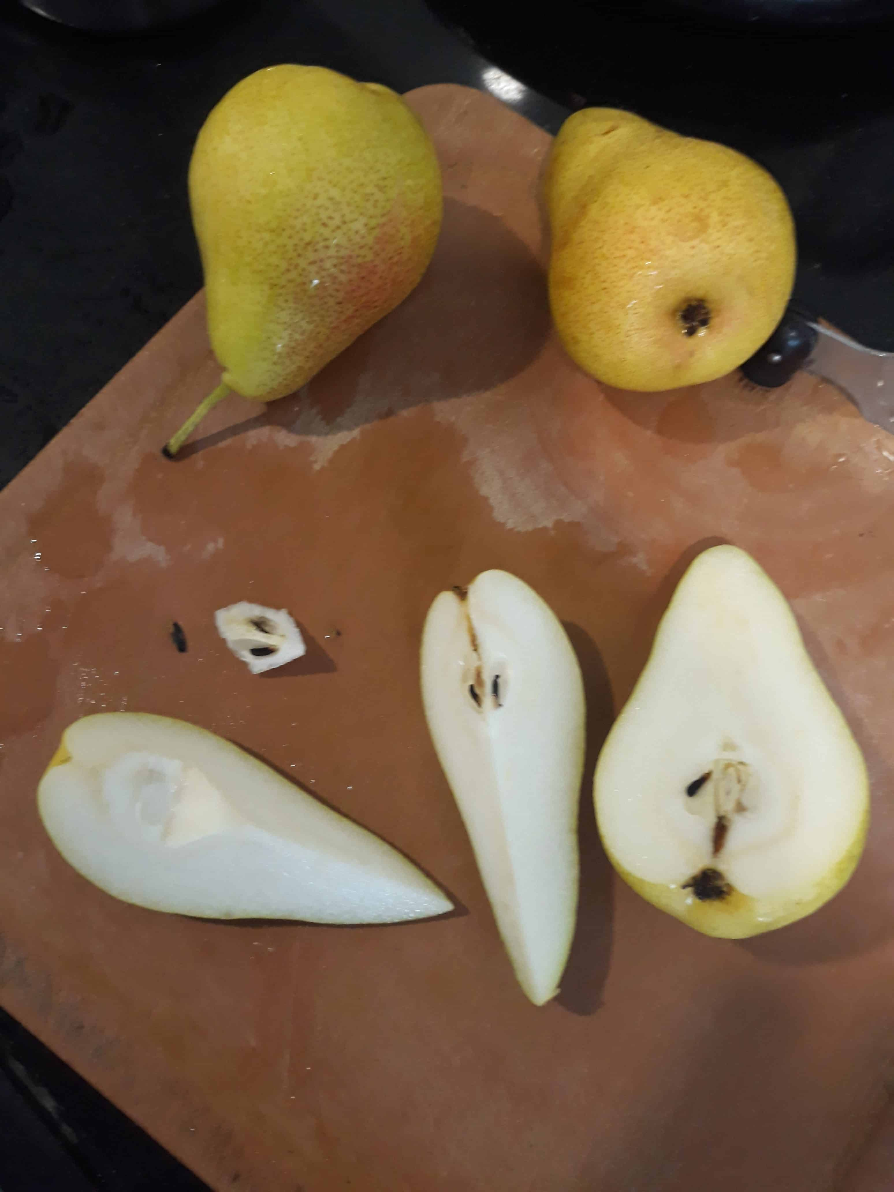 Cutting and Coring Fresh Pears