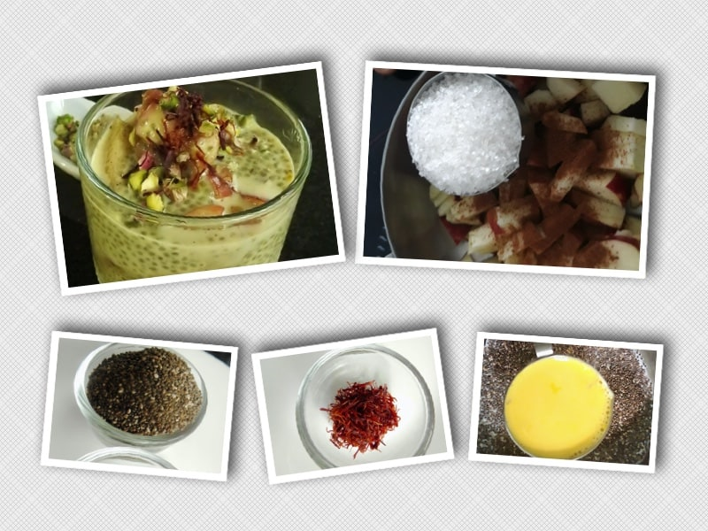 Simple steps to make Saffron and Chia Seed Pudding Recipe