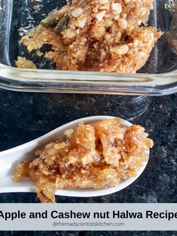 Low-fat Apple and Cashew nut Halwa Recipe