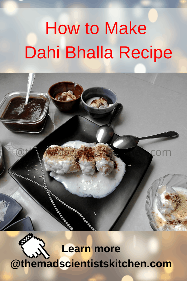 A serving of Dahi Wada in rich and creamy curds