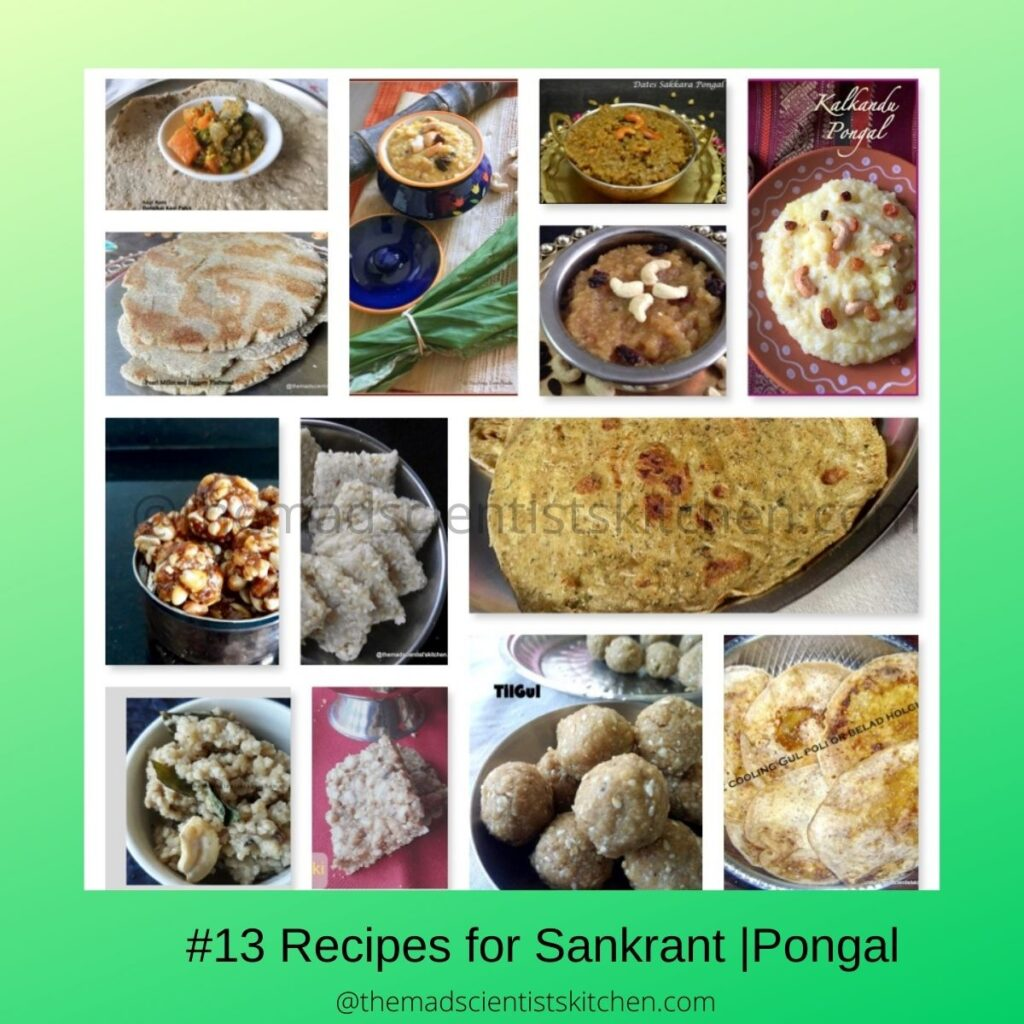 Sankranti Recipes, a round up