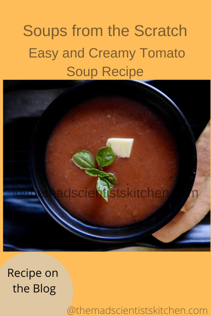Once you make tomato soup you should sit and relax with your portion!