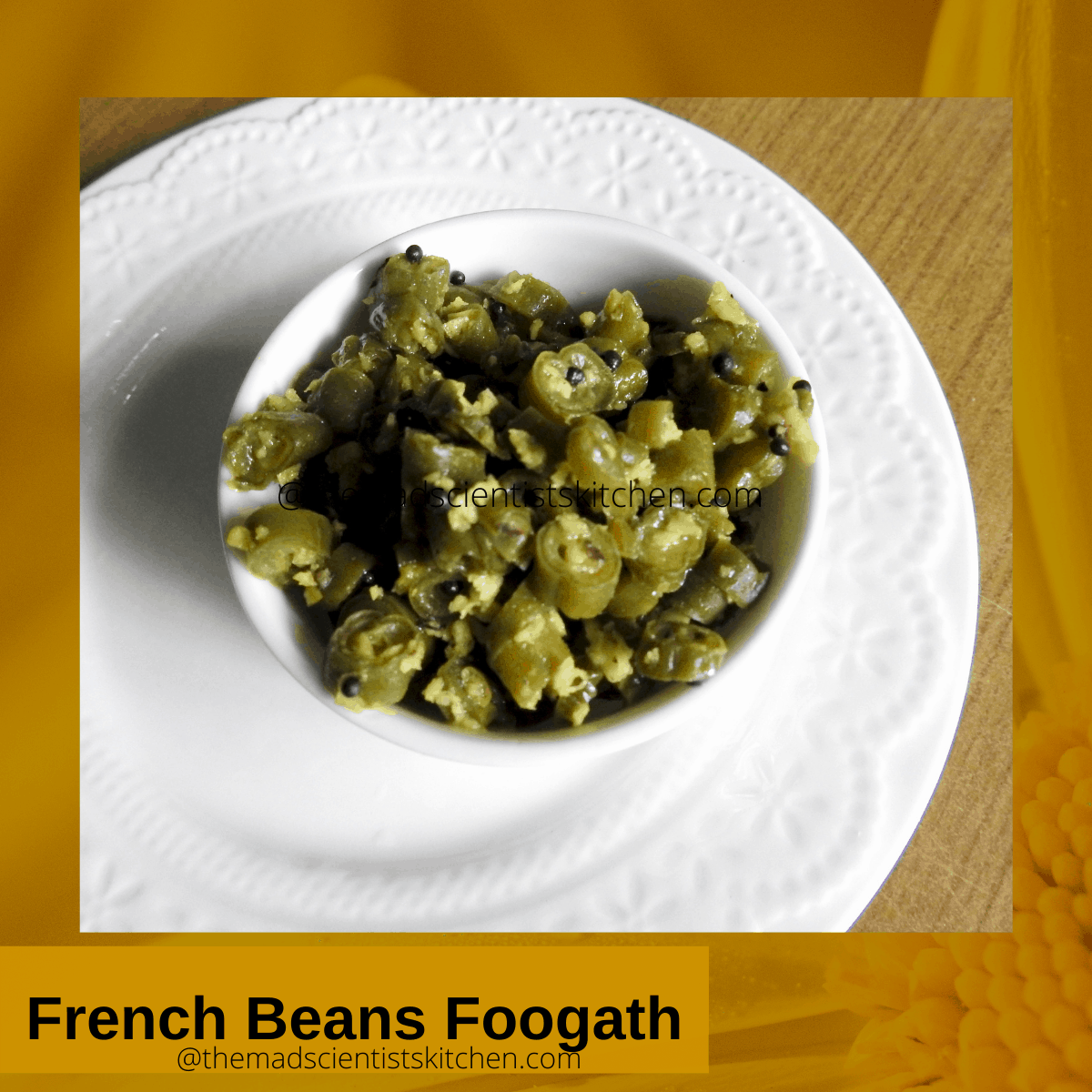 Everyday vegetable with tender French Beans