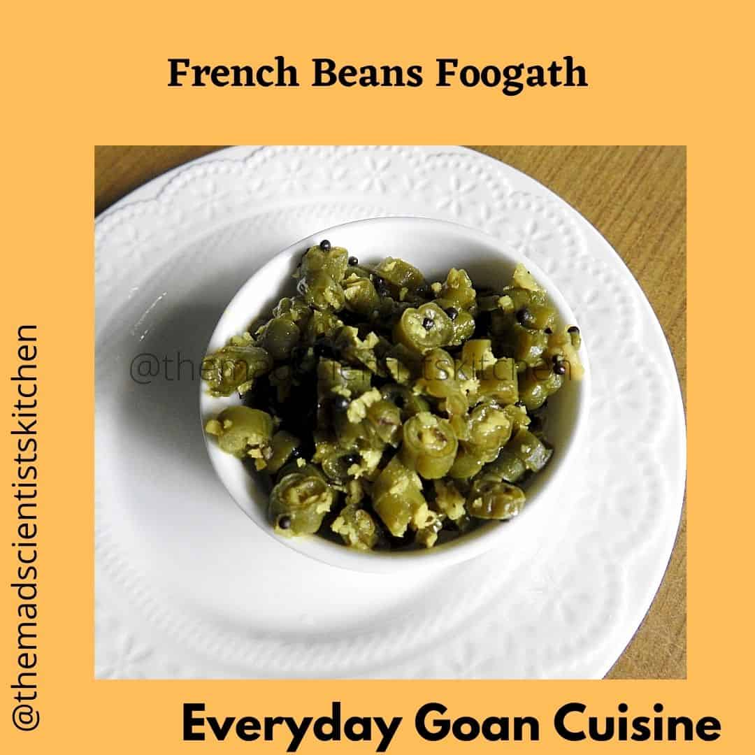Simple everyday curry that we eat Steamed French Beans