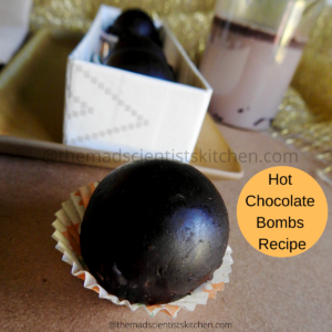 Add these hot chocolate bombs to steaming milk and enjoy
