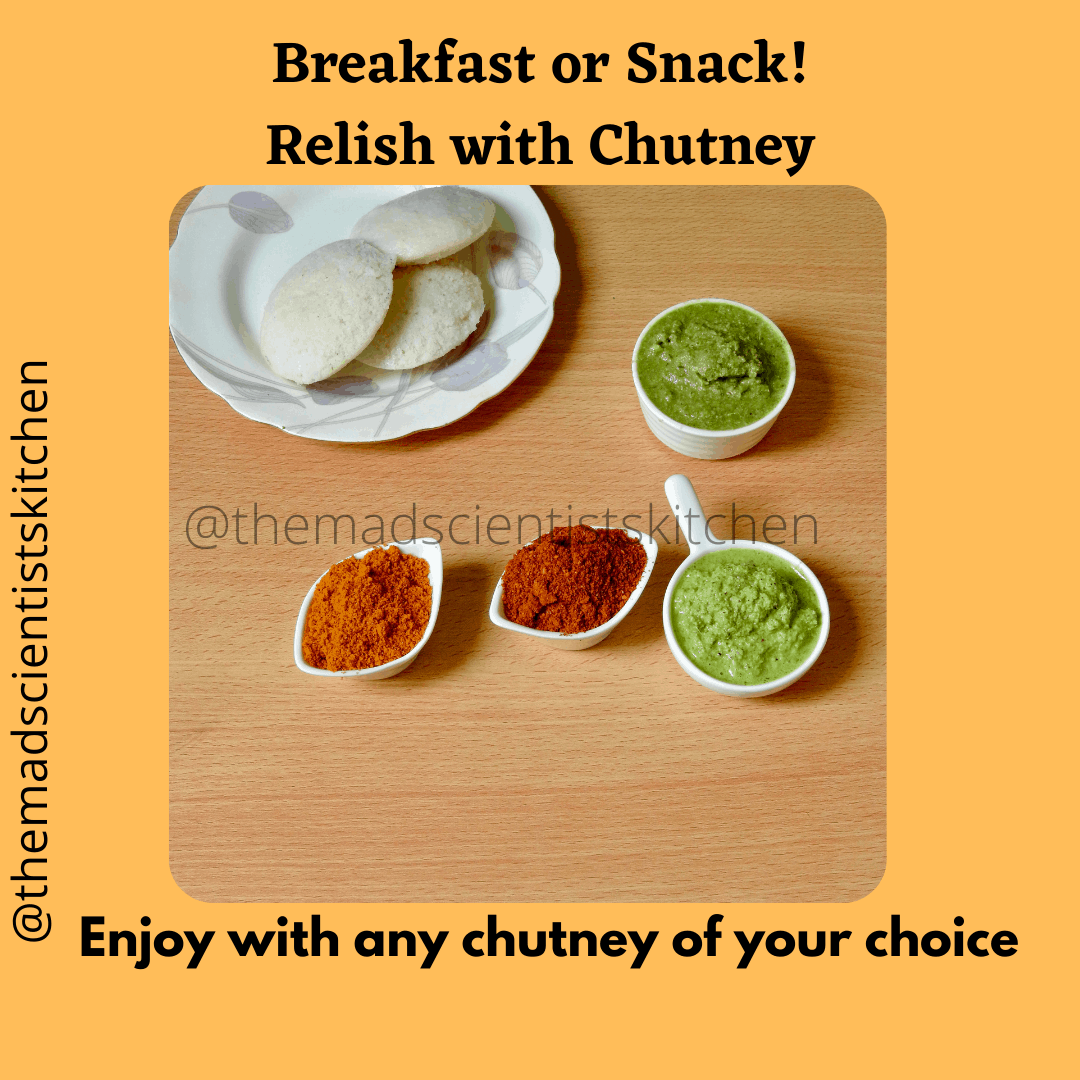 Serving some delicious chutney to choose from for breakfast