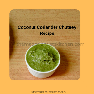 Dishing up some coconut and coriander chutney to go with breakfast
