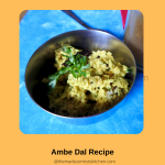 Delicious Vegan Ambe Dal, a serving