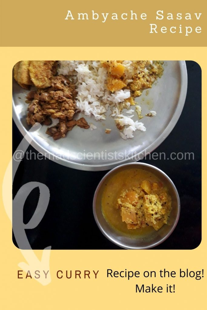 So this is my curry of the day Mangoes cooked in a delicious coconut based curry.