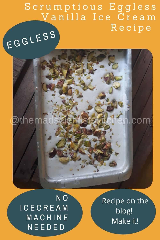 Vanilla Ice Cream Recipe without eggs and machine