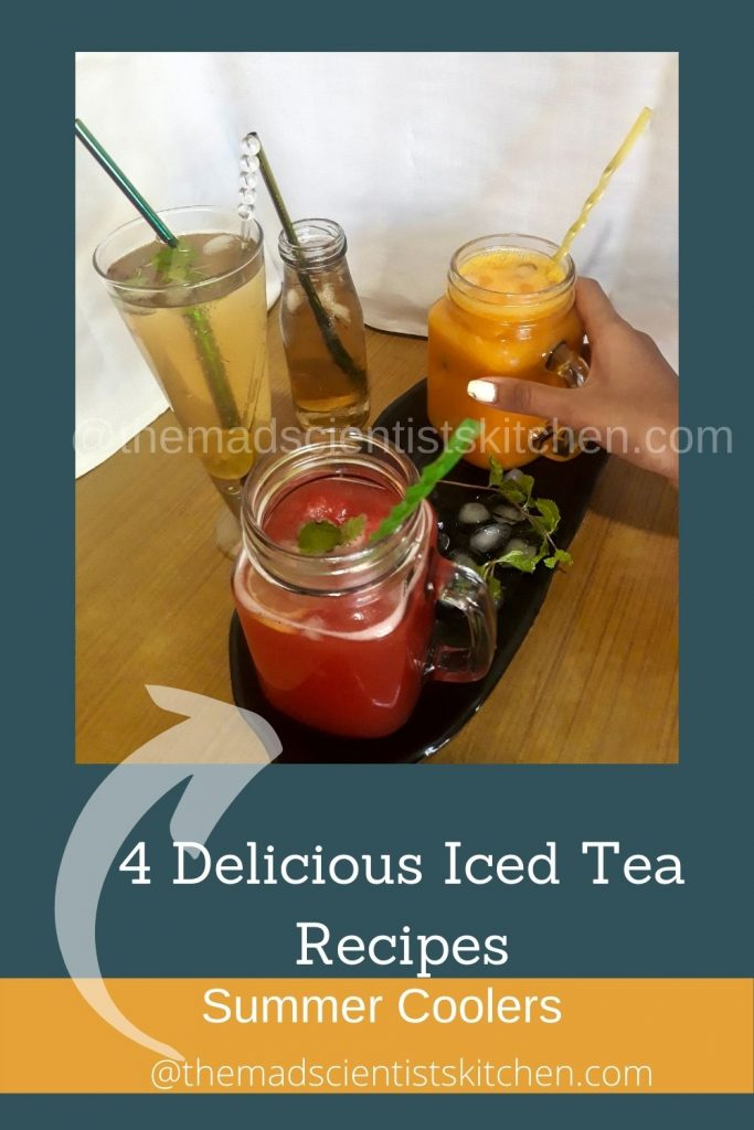 The party is on choose your favourite flavoured Iced tea!
