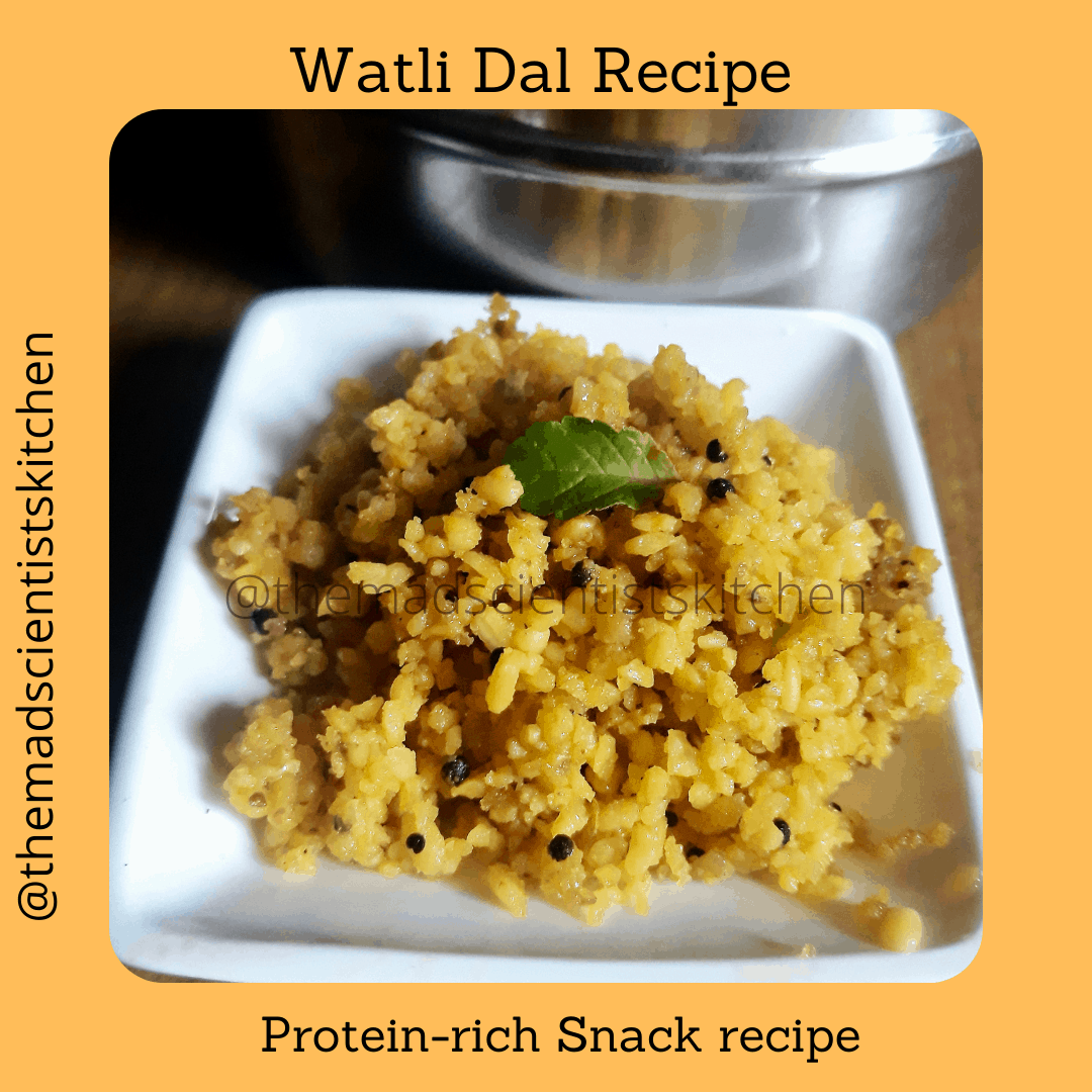 A small portion of watli dal that I made for Padwa