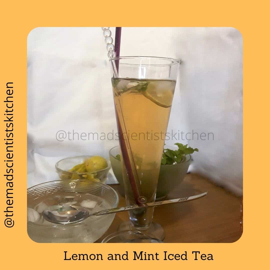 Lemon and Mint my favourite flavours on iced tea