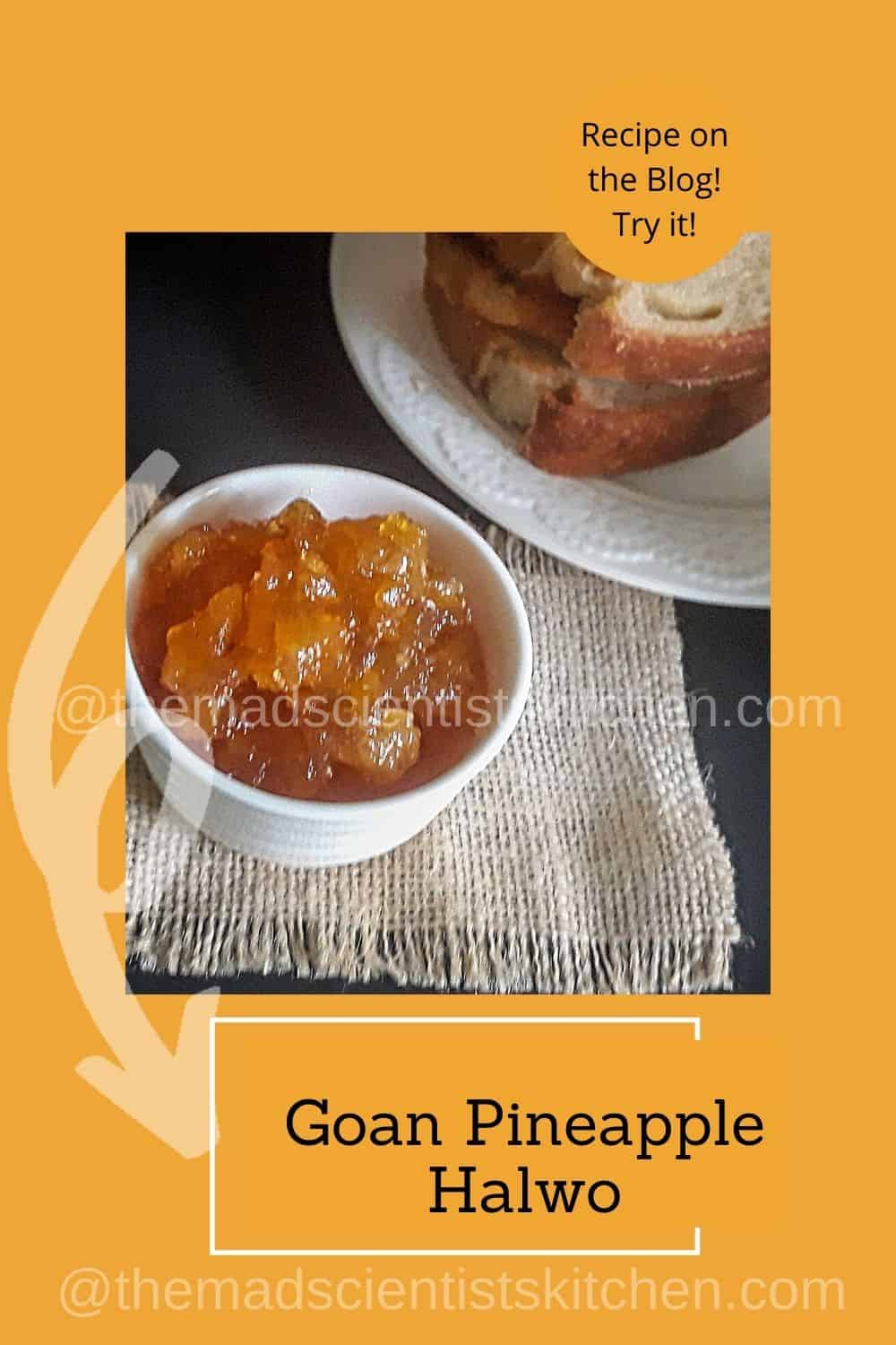 Breakfast with us with homemade sourdough bread and pineapple jam